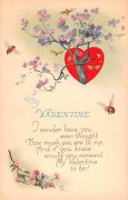 val200091 - Valentines Day Post Card Old Vintage Antique Postcard