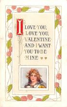 val200093 - Valentines Day Post Card Old Vintage Antique Postcard