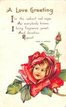 val200097 - Valentines Day Post Card Old Vintage Antique Postcard