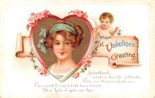 val200121 - Valentines Day Post Card Old Vintage Antique Postcard