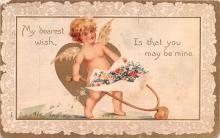 val200129 - Valentines Day Post Card Old Vintage Antique Postcard