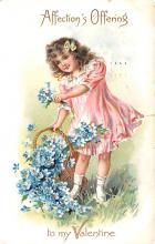 val200131 - Valentines Day Post Card Old Vintage Antique Postcard