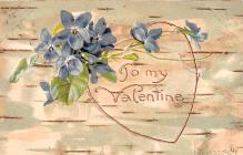 val200137 - Valentines Day Post Card Old Vintage Antique Postcard
