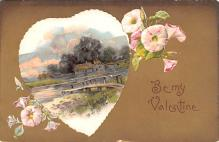 val200141 - Valentines Day Post Card Old Vintage Antique Postcard