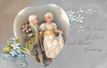 val200143 - Valentines Day Post Card Old Vintage Antique Postcard