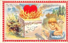 val200149 - Valentines Day Post Card Old Vintage Antique Postcard