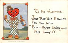 val200151 - Valentines Day Post Card Old Vintage Antique Postcard