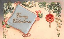 val200155 - Valentines Day Post Card Old Vintage Antique Postcard