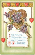 val200161 - Valentines Day Post Card Old Vintage Antique Postcard