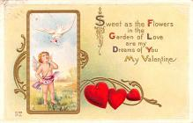 val200173 - Valentines Day Post Card Old Vintage Antique Postcard