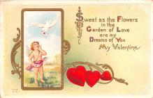 val200175 - Valentines Day Post Card Old Vintage Antique Postcard