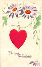 val200195 - Valentines Day Post Card Old Vintage Antique Postcard