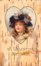 val200197 - Valentines Day Post Card Old Vintage Antique Postcard