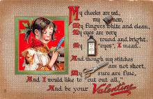 val200201 - Valentines Day Post Card Old Vintage Antique Postcard