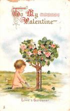val200203 - Valentines Day Post Card Old Vintage Antique Postcard
