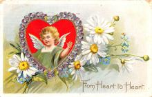 val200205 - Valentines Day Post Card Old Vintage Antique Postcard