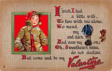 val200209 - Valentines Day Post Card Old Vintage Antique Postcard