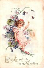 val200215 - Valentines Day Post Card Old Vintage Antique Postcard