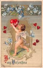 val200221 - Valentines Day Post Card Old Vintage Antique Postcard