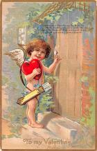 val200225 - Valentines Day Post Card Old Vintage Antique Postcard