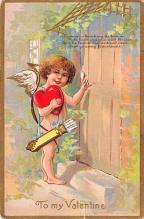 val200229 - Valentines Day Post Card Old Vintage Antique Postcard