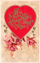 val200235 - Valentines Day Post Card Old Vintage Antique Postcard
