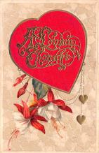 val200237 - Valentines Day Post Card Old Vintage Antique Postcard