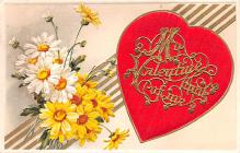 val200239 - Valentines Day Post Card Old Vintage Antique Postcard