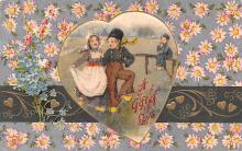 val200245 - Valentines Day Post Card Old Vintage Antique Postcard