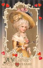val200247 - Valentines Day Post Card Old Vintage Antique Postcard
