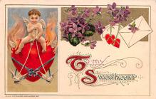val200255 - Valentines Day Post Card Old Vintage Antique Postcard
