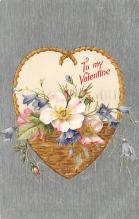 val200263 - Valentines Day Post Card Old Vintage Antique Postcard