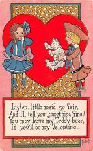 val200269 - Valentines Day Post Card Old Vintage Antique Postcard