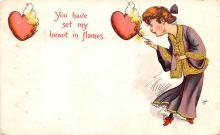 val200271 - Valentines Day Post Card Old Vintage Antique Postcard