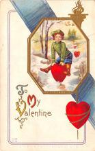 val200277 - Valentines Day Post Card Old Vintage Antique Postcard
