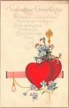 val200287 - Valentines Day Post Card Old Vintage Antique Postcard
