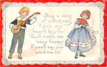 val200297 - Valentines Day Post Card Old Vintage Antique Postcard