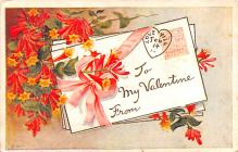 val200307 - Valentines Day Post Card Old Vintage Antique Postcard