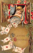 val200311 - Valentines Day Post Card Old Vintage Antique Postcard