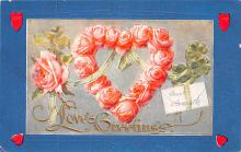 val200315 - Valentines Day Post Card Old Vintage Antique Postcard
