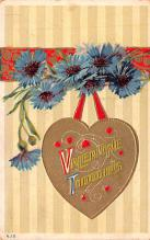val200319 - Valentines Day Post Card Old Vintage Antique Postcard
