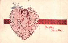 val200321 - Valentines Day Post Card Old Vintage Antique Postcard