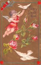 val200327 - Valentines Day Post Card Old Vintage Antique Postcard
