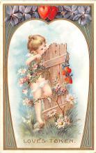 val200333 - Valentines Day Post Card Old Vintage Antique Postcard
