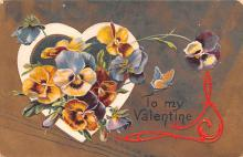 val200335 - Valentines Day Post Card Old Vintage Antique Postcard