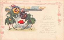 val200339 - Valentines Day Post Card Old Vintage Antique Postcard