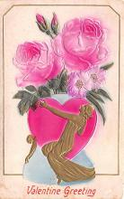 val200341 - Valentines Day Post Card Old Vintage Antique Postcard