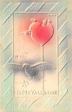 val200347 - Valentines Day Post Card Old Vintage Antique Postcard