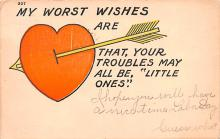 val200349 - Valentines Day Post Card Old Vintage Antique Postcard