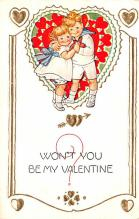 val200361 - Valentines Day Post Card Old Vintage Antique Postcard